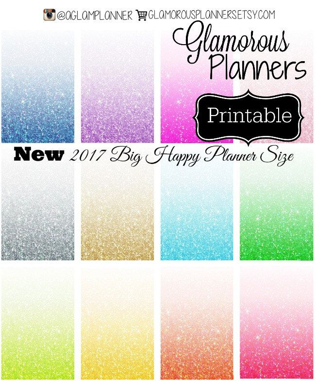 Glitter Full Boxes 2017 Big Happy Planner Stickers Full Size Mambi Happy Planner Stickers Full Box Vertical Printable Glam Planner Large HP