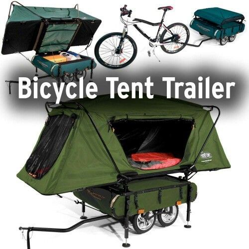 Bicycle tent trailer, way cool! | Cub Scouts | Pinterest | Bicycle ...