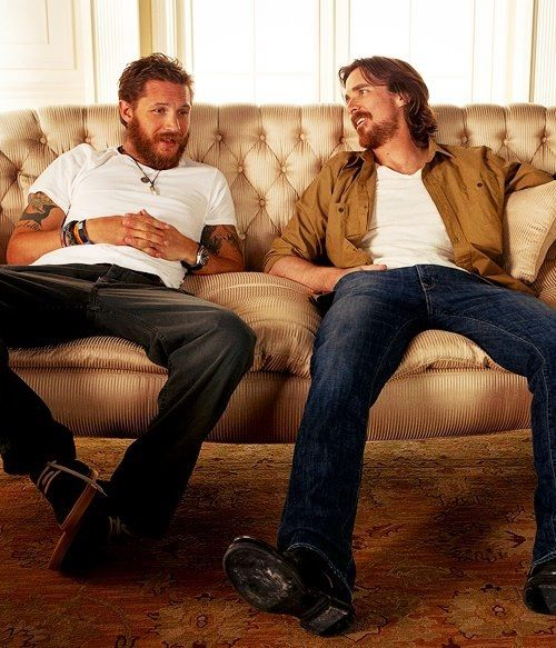 christian bale (batman) and tom hardy (bane)