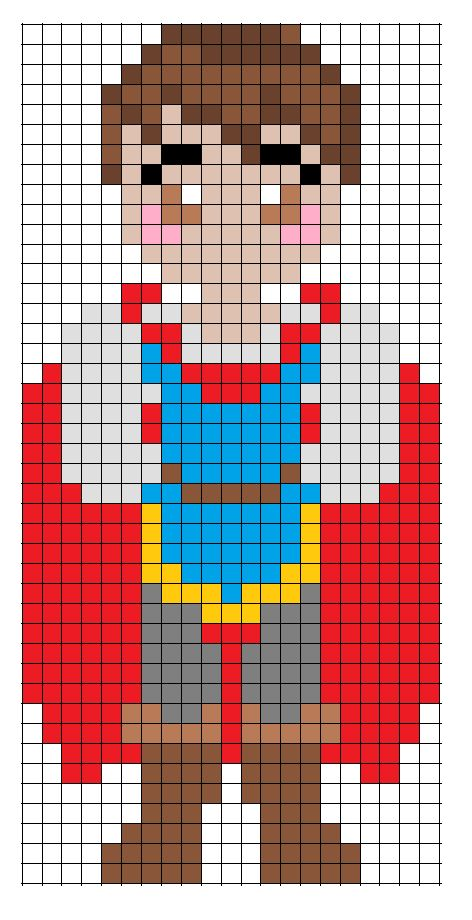 Disney Snow White Prince Charming perler bead pattern