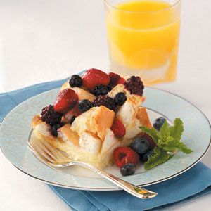 Mixed Berry French Toast Bake Recipe from Taste of Home -- shared by Amy Berry of Poland, Maine