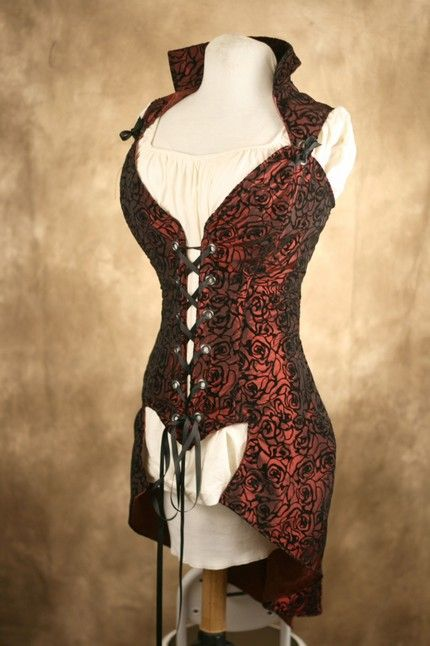 Courtier Pirate Bodice with coat tails at stylehive.com