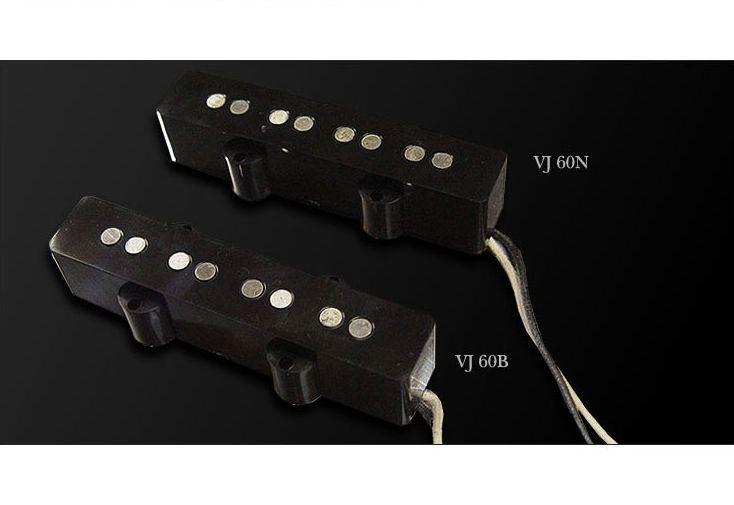 Moollon VJ60 Jazz Bass Pickup Set VJ-60 Neck Bridge AlNiCo5 42AWG Heavey Formvar #Moollon