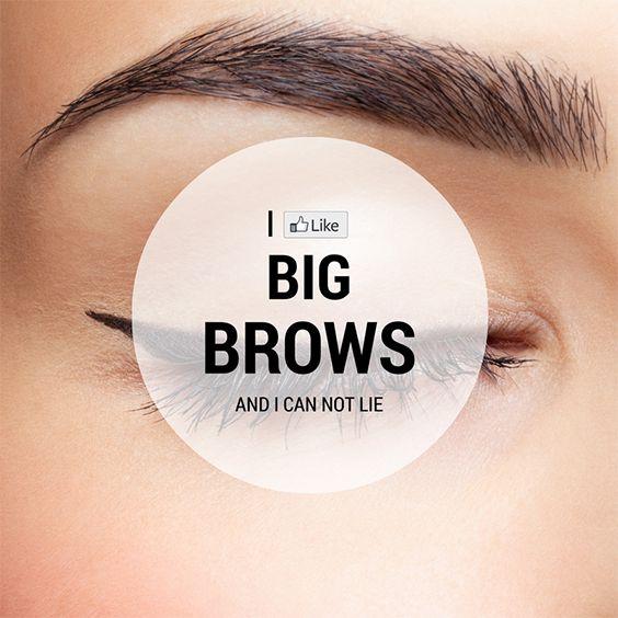 I LIKE BIG BROWS AND I CAN NOT LIE - $99 Social Media For Eyebrow Threading Salons! www.SocialMediaFor99Dollars.com