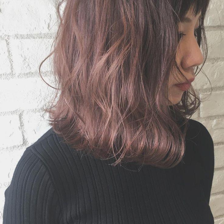 いいね!196件、コメント1件 ― SHOKO MIYAZAKI.さん(@_shokotaso)のInstagramアカウント: 「autumn color . . 透明感のあるピンクバイオレット . . . #ヘアスタイル #髪型 #ヘアセット #ヘアアレンジ #ヘアカラー #カラー #ラベンダー #model…」