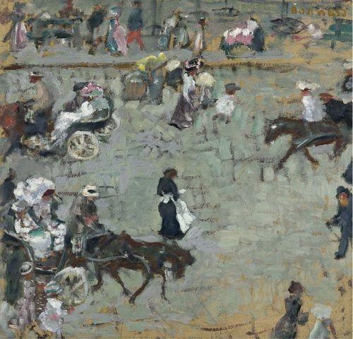 Pierre Bonnard (1867-1947) Scène de rue à Paris, circa 1905