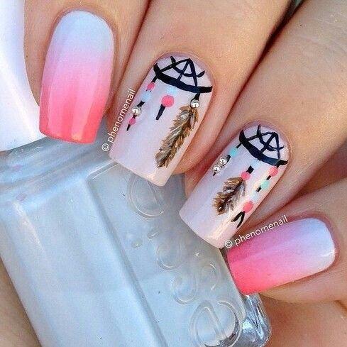 Freehand+Nail+Art | Uñas decoradas etiquetadas como ' atrapa sueños '. Inspiración de 2 ...