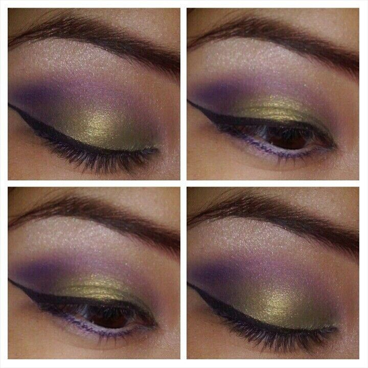 sephora makeup academy palette. all eyeshadows and purple eyeliner from sephora makeup academy palette | olive green on lid