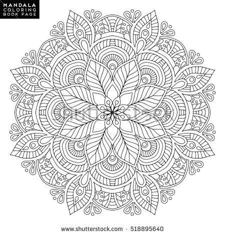 Vector outline mandala