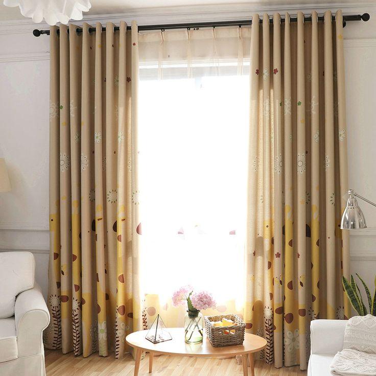 Moderne Gardine Giraffe Motiv aus Polyester für