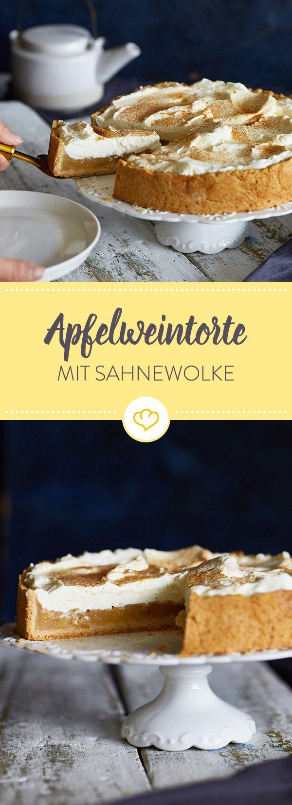 Die beschwipste Torte mit Apfelfüllung und Sahnewolke ist ein süßer Klassiker aus Hessen. Der