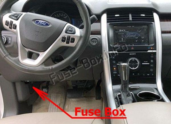 fuse box diagram ford edge (2011-2014) | fuse box, ford edge, ford  pinterest