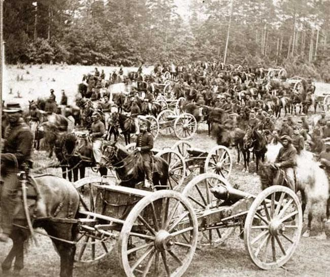 Gibson's horse battery (C. 3d U.S. Art'y.) near Fair Oaks, Virginia June 1862
