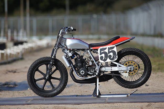 Honda Flat Track Racer | Honda CR500 Flat Track Racer | Honda Flat Tracker | Flat Tracker Motorcycles Custom-built Honda flat track racer