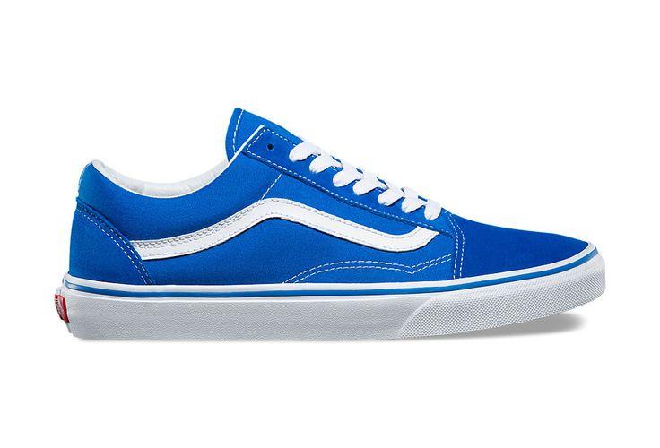 Chaussures Vans Old Skool Bleu Blanc | Alltricks.fr
