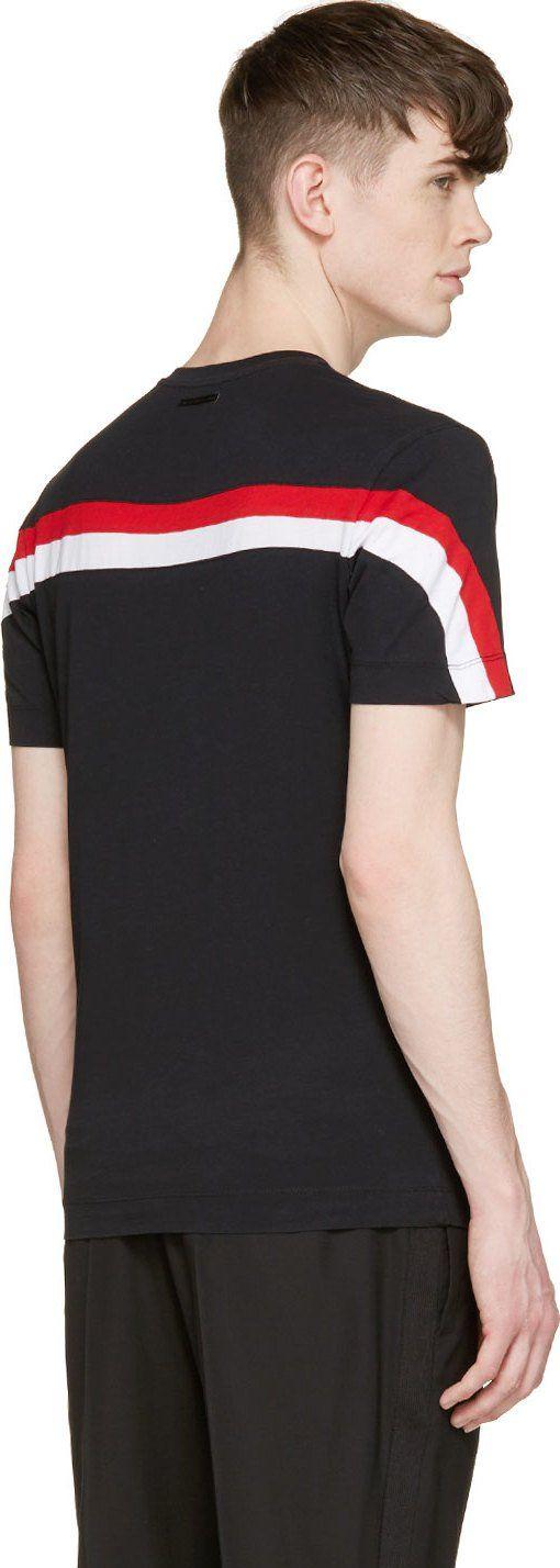 Diesel Black Gold Black Tomicity-Stripes T-Shirt
