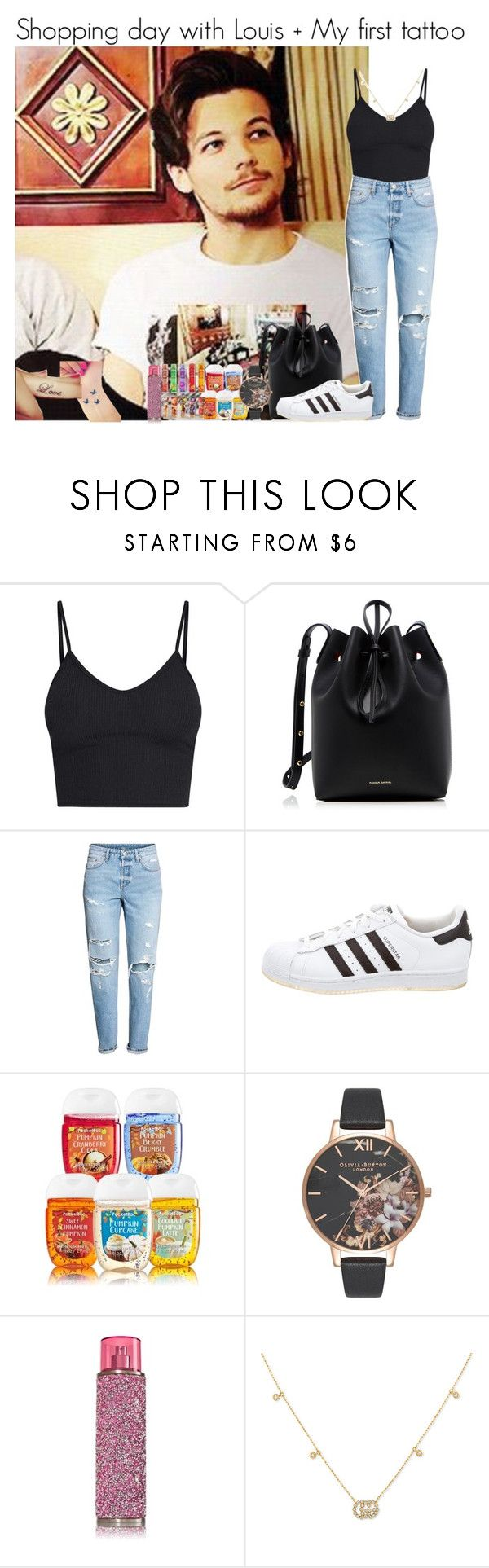 """""""Shopping day with Louis + my first tattoo"""" by louise-smiths ❤ liked on Polyvore featuring Mansur Gavriel, adidas, Olivia Burton and Gucci"""