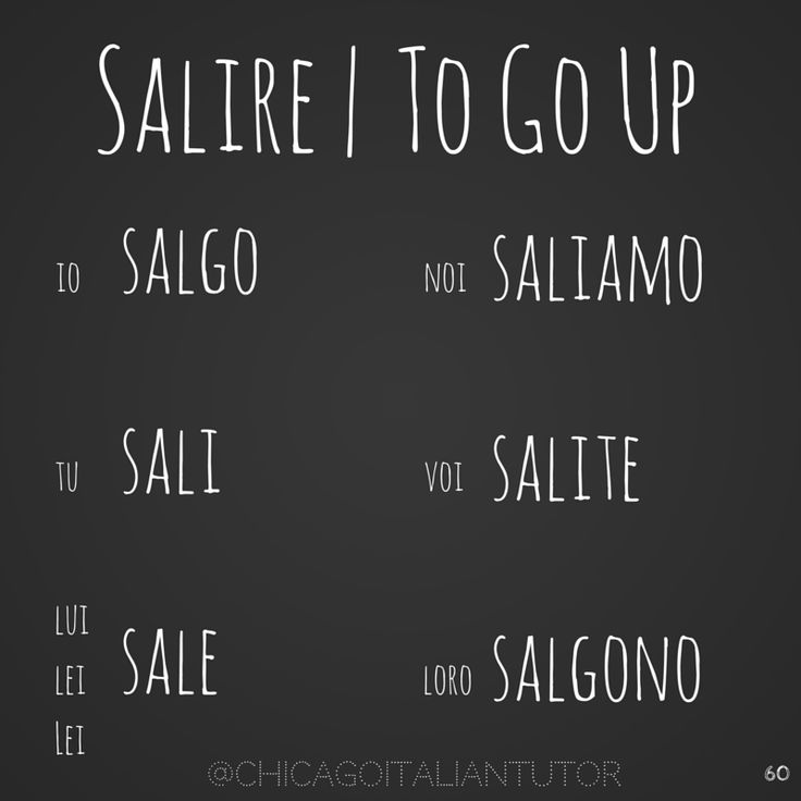 salire | to go up