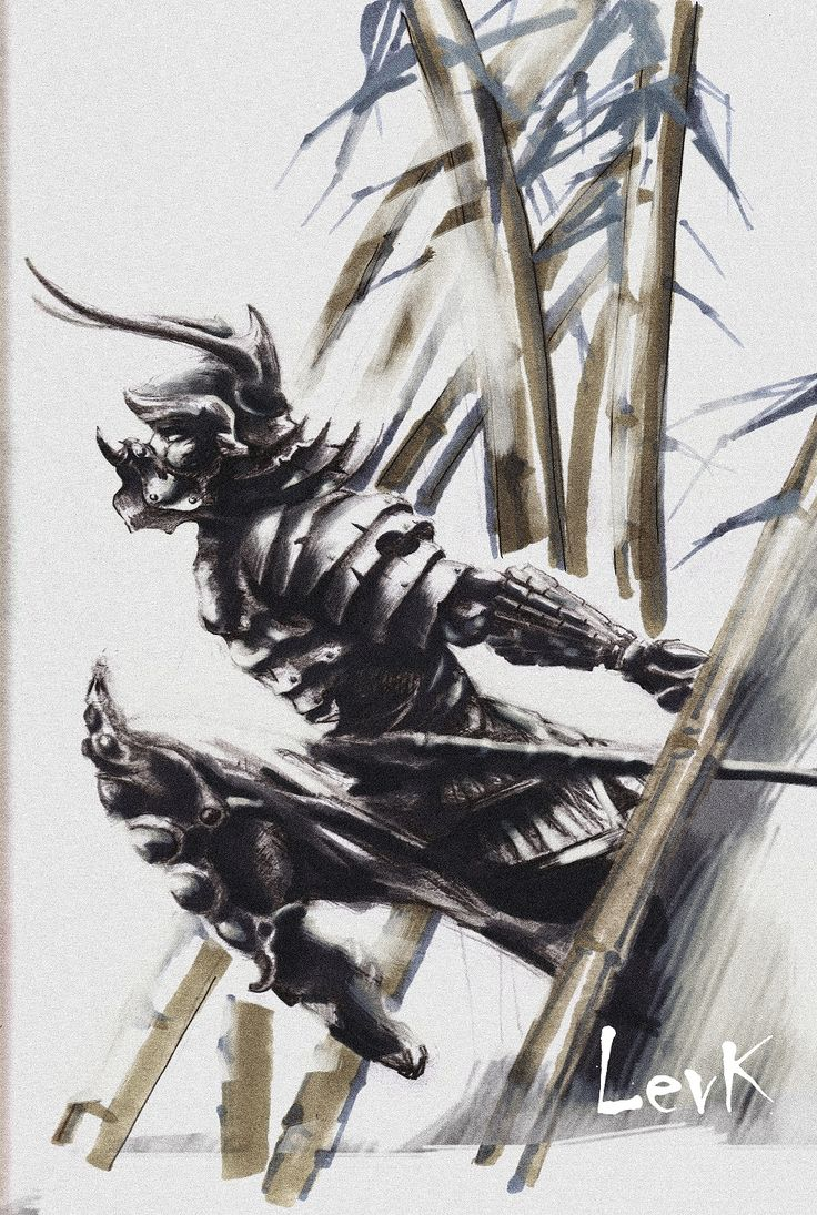 Tattoo sketch / Тату эскизы Tattoo ideas /  Тату идеи  Japan Япония Арт Art Самурай Samurai  #LevK #Art #tattoo #japan #samurai #neotraditional #sketch #ninja #эскиз #самурай #ниндзя #тату #SPB