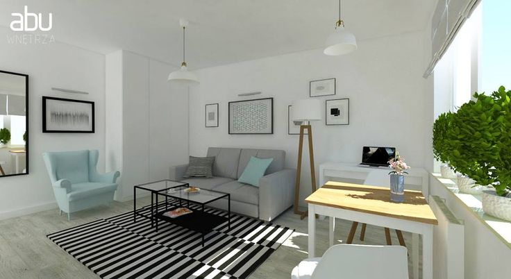 small apartment in Warsaw, scandinavian design