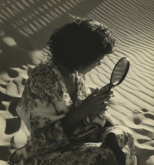 Girl with mirror, 1938 (Olive Cotton)