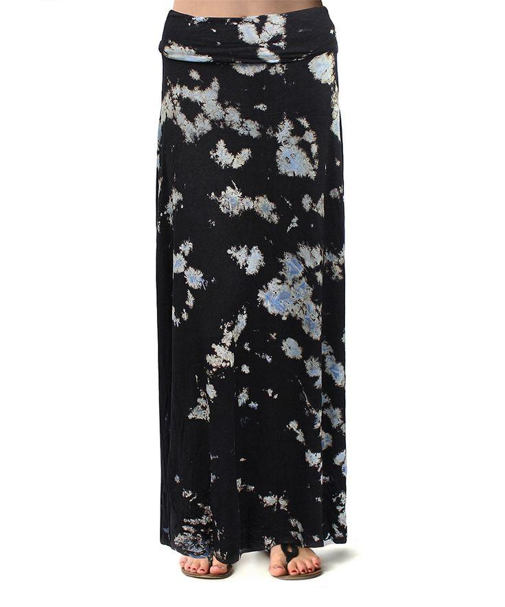 flawless black tie dye maxi skirt black maxi skirts