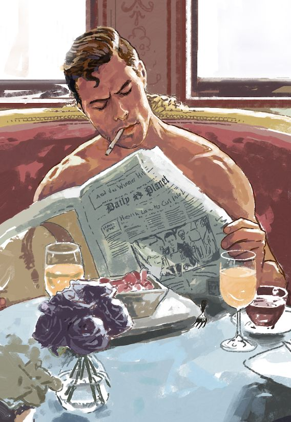 Clark Kent by Dave Seguin | http://daveseguin.tumblr.com. clark kent would never smoke