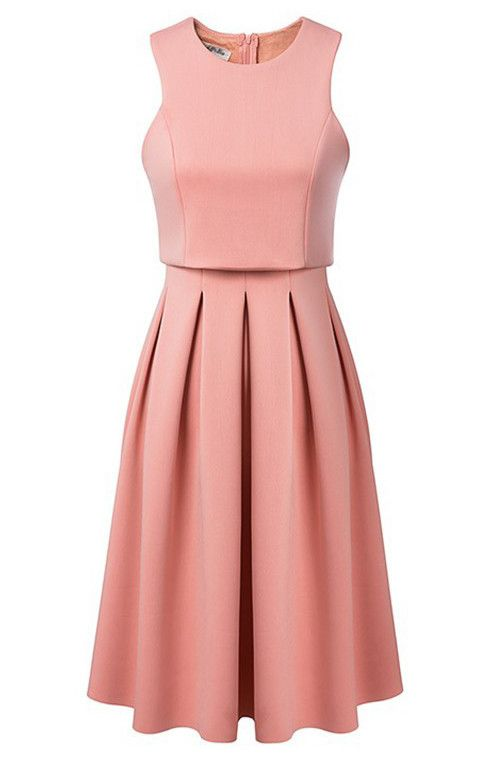 Debutante Crop Top Midi Scuba Dress. Varius colors.