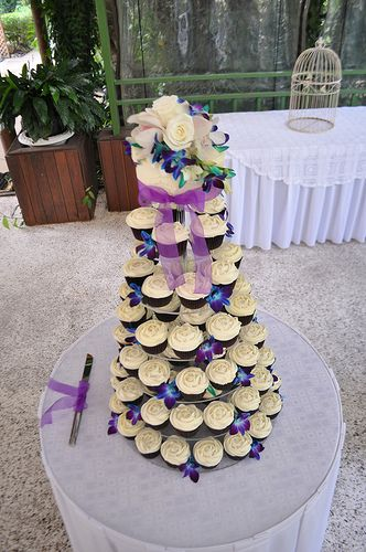 blue and purple cupcake wedding cakes blue and purple cupcake wedding cakes search 11953