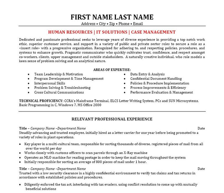 11 Best Best IT Manager Resume Templates & Samples Images