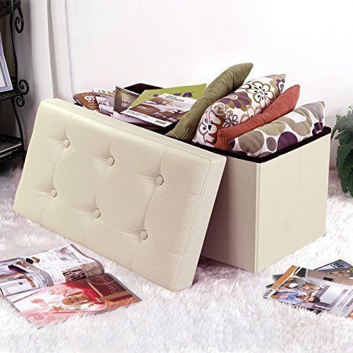 Toy Storage Box Chest Bin Ottoman Coffee Table Seat Organiser Living Room New #SONGMICS