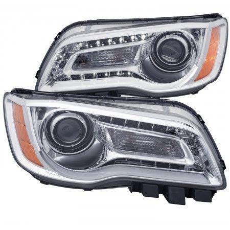 Anzo 121494 | 2013 Chrysler 300 Chrome/Clear Projector Headlights for Sedan