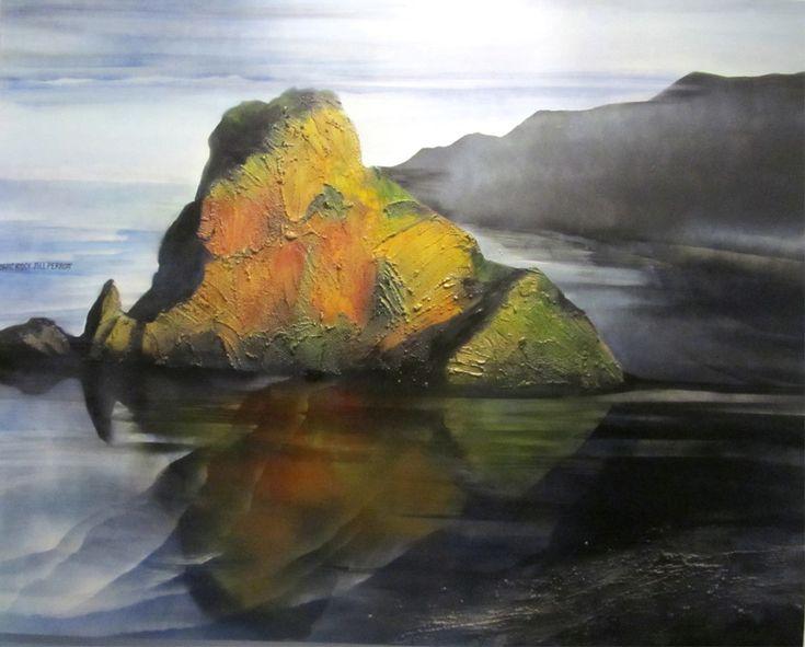 Iconic Rock - Jill Perrott. Parnell Gallery Artist.  http://www.parnellgallery.co.nz/artists/jill-perrott/