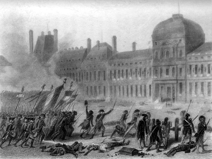 Prise des Tuileries - 10 Aout 1792