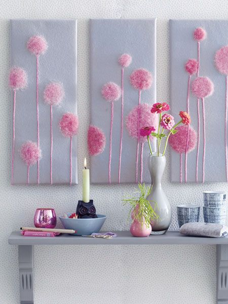 """Trees from """"the lorax"""", love this for a girls bedroom"""