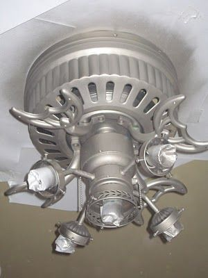 """Adventures In Creating: Ceiling Fan Update    This is a very cool idea that I would love to try, but I'm worried about the paint getting into the motor and """"gunking"""" it up . . . anyone have any thoughts on that?"""