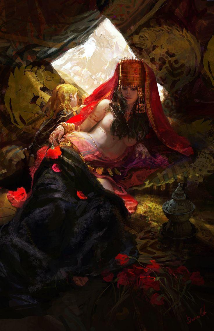 The nomads last journey, Alexander Deruchenko on ArtStation at https://www.artstation.com/artwork/5e1dg