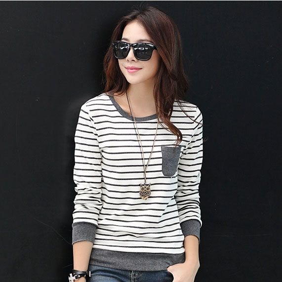 Mujer la camiseta t-shirt Femme Tops para Mujer 2016 nueva moda Poleras De Mujer Blusas De manga larga Camisetas Y Tops tallas grandes ropa