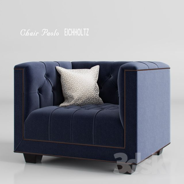3d models: Arm chair - Armchair_Paolo_EICHHOLTZ