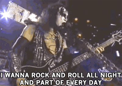 I Wanna Rock N Roll All Night, Kiss. | 16 Times That Misheard Lyrics Were Way Better Than The Original Ones .....  Totally thought that's what they were saying. lol