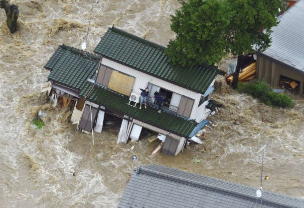 2015/9/10 茨城県常総市 鬼怒川決壊 Levee collapse of Kinugawa river. Joso-shi Ibaragi-ken Japan.