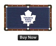 Who would not like a Toronto Maple leaf pool cloth in your NHL themed game room.  Available for 8' and 9' tables