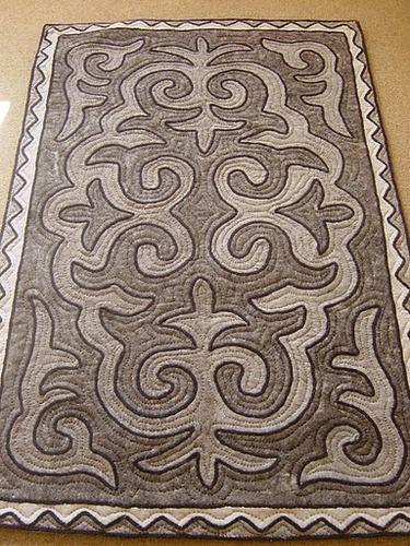 Felt rug, natural shades, 1.3m x 0.8m http://www.shyrdak-felt-rugs.com/
