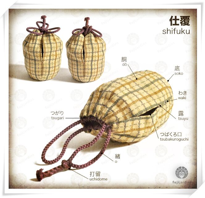 Shifuku - tea caddy bag (to fit a tea caddy, a chaire)