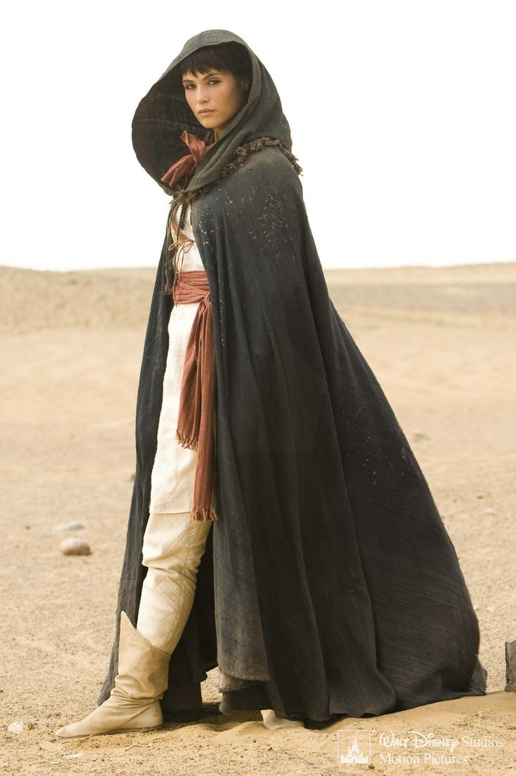 Tamina from Prince of Persia movie again.  Barshai'al clothing inspiration; light dust cloak