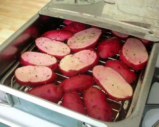 Sliced potatoes in a Cameron Stovetop Smoker