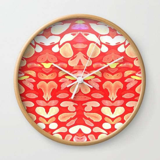 """Available in natural wood, black or white frames, our 10"""" diameter unique Wall…"""
