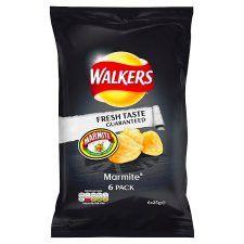 Walkers Marmite Crisps 6X25g
