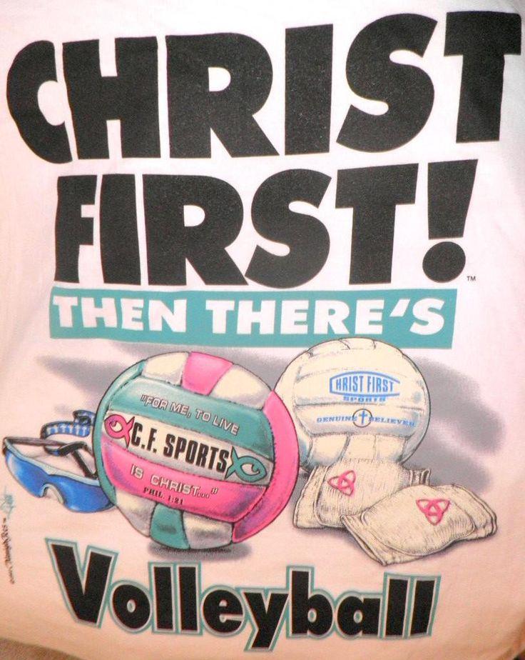 Christ 1st Volleyball Christian T-shirt