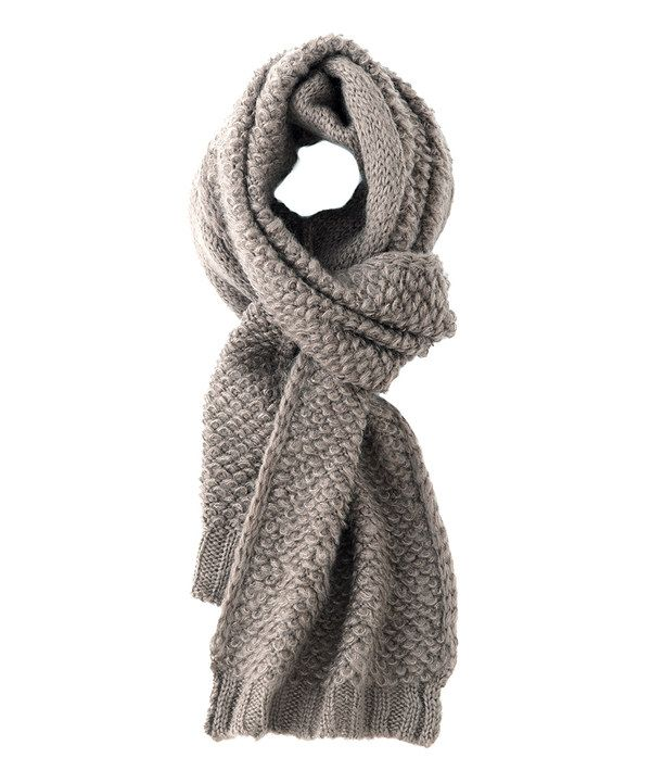 Taupe Knit Gail Scarf